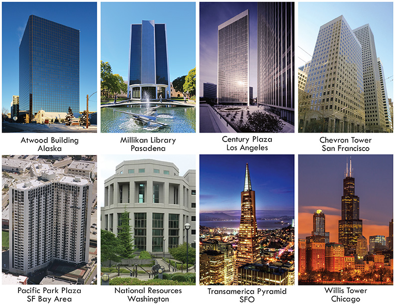 Buildings in the US equipped with Kinemetrics